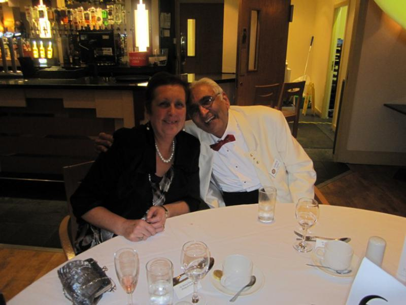 BLACKPOOL SOUTH ROTARY CLUB 2013  CHARTER DINNER.  - May & Ramesh Gandhi.