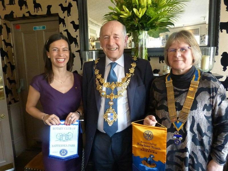 Visit by the Mayor of Wandsworth - Visiting Rotarian and President Gill