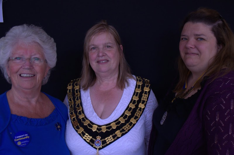 Spring Tea Party Photographs - Mayoress Mary with Marie and Hayley