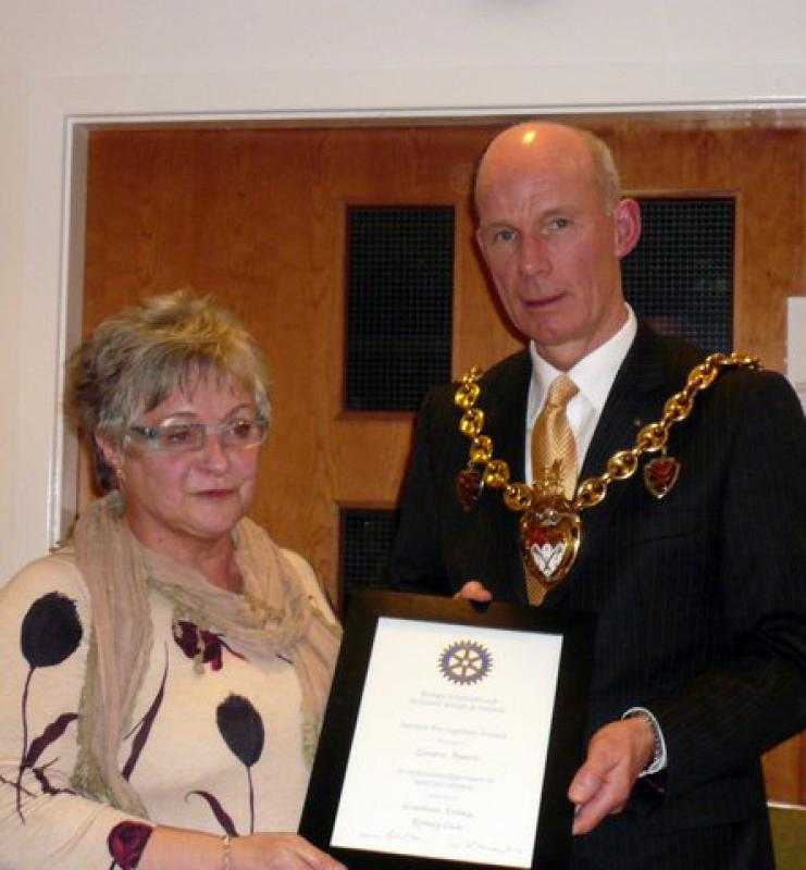 Community Awards - Mayors Evening Award  to Sandra Roberts Jan 2014 1