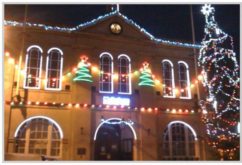 Christmas Lights switchon = Hope and Homes day - Town Hall lights