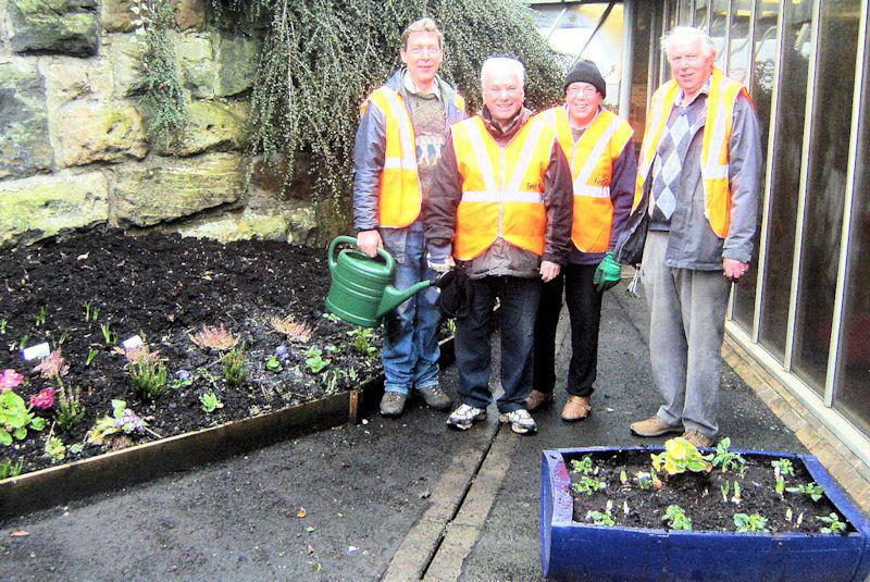 Local Community Activities and Charities - Members of our Club worked hard at putting on a good display of colourful plants at Exhibition railway station.