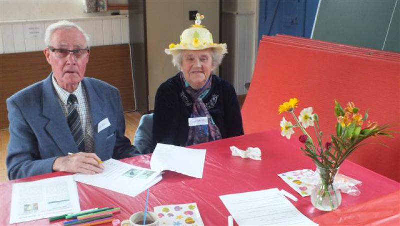 Memory Cafe at St Michaels Hall - The winning hat design