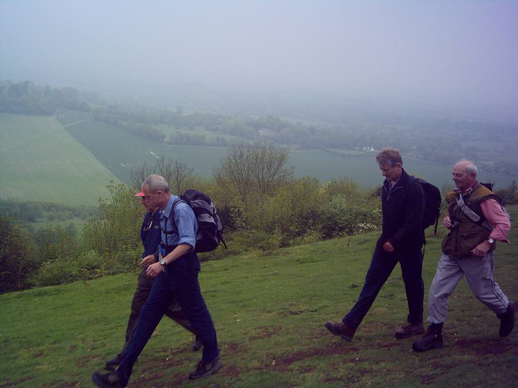 Training 3 peaks Challenge May '06 - Walking with a nice view on the side