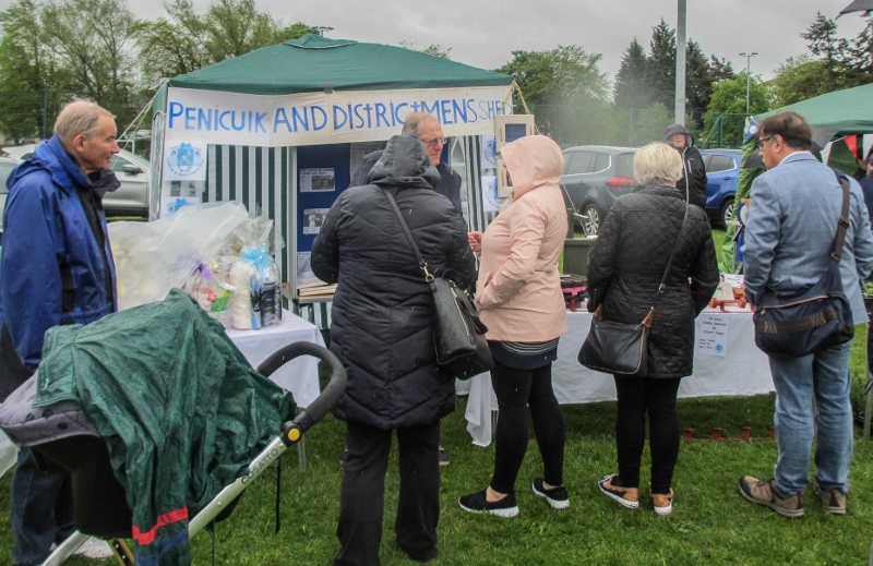 Penicuik in the Park on 25th May 2019 - Mens Shed