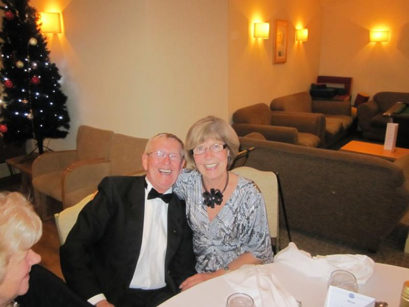 BLACKPOOL SOUTH ROTARY CLUB 2013  CHARTER DINNER.  - Michael & Carol Woolley.