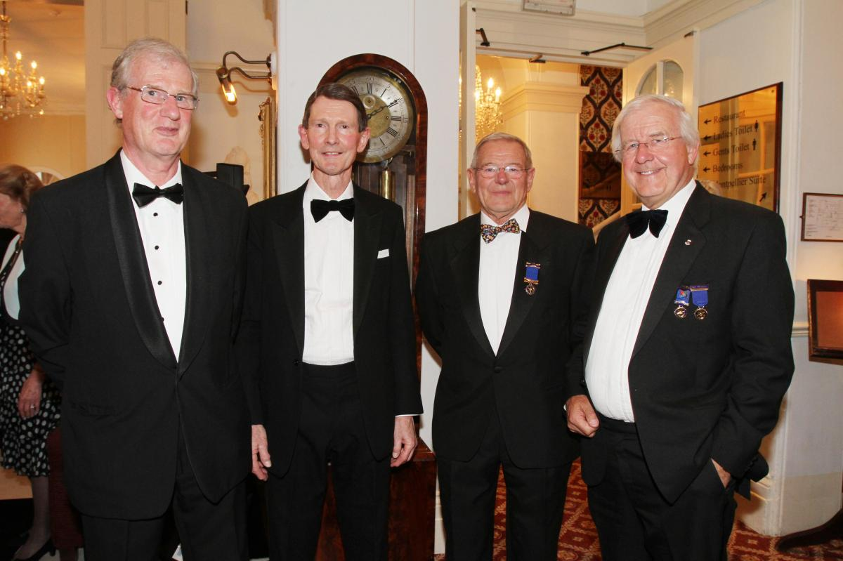 Cheltenham North Charter Anniversary Dinner 26th April 2012 - Mike Bone Bob Holland John Cantrill and David Rees