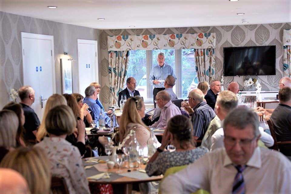 Chartering of Wych-Malbank Nantwich Rotary Club - Mike Constable Addressing members and Guests