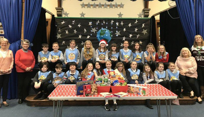 Youth - Children at Millbank Primary create a hamper for donation to the Food Bank