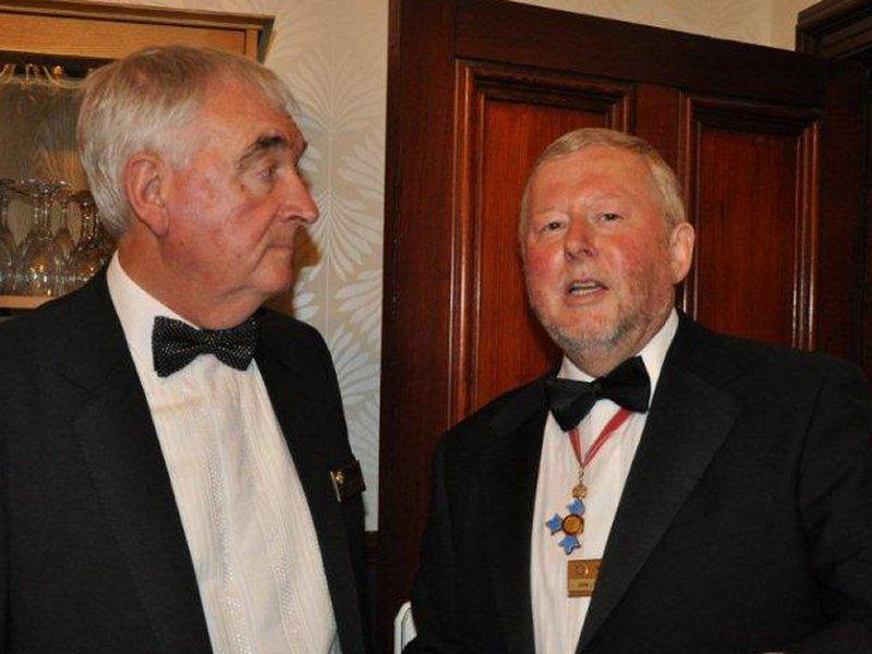 Millom Club Charter Dinner 2014 - Chris and Ian have everyone organised