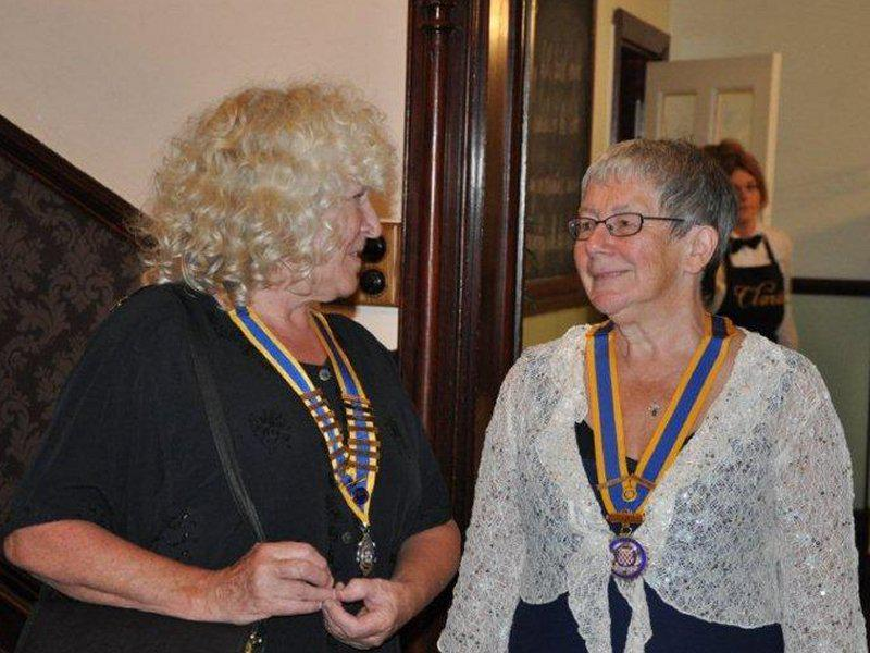 Millom Club Charter Dinner 2014 - Presidents both - Doreen Jackson (Millom Inner Wheel) and Hazel Eady (Millom Rotary).