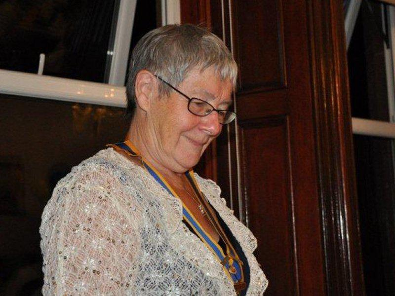 Millom Club Charter Dinner 2014 - Hazel seems pleased