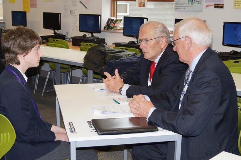 Frome College Mock Interviews held each year - Student Interviews with Rotarians acting as prospective employers