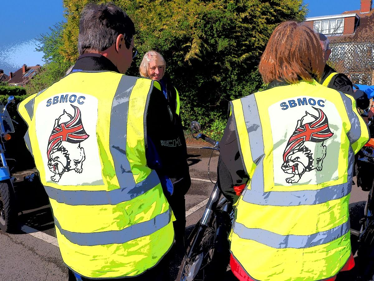 Motorcycle Rally 2018 - SBMOC members before the off