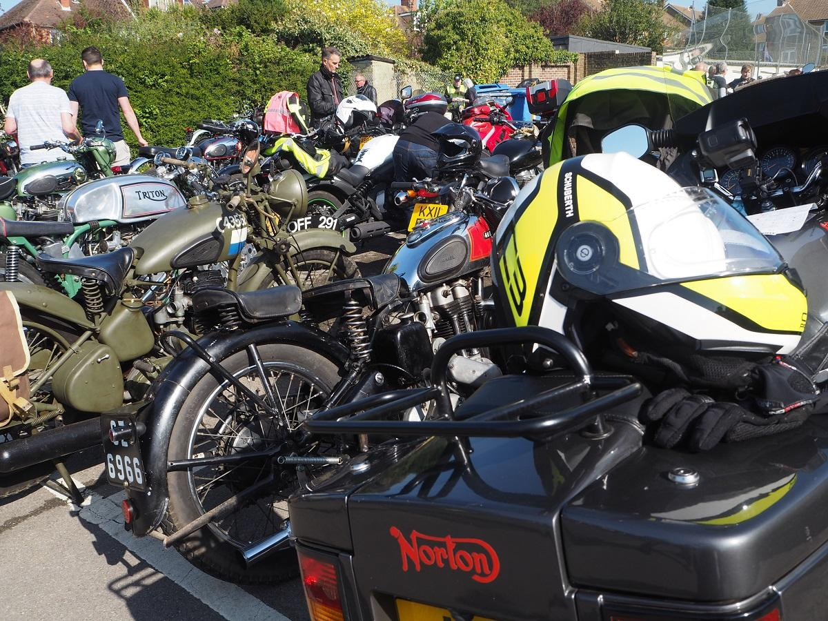 Motorcycle Rally 2018 - All lined up ready to go