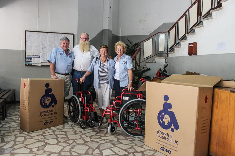 Wheelchairs in Mozambique - One complete and ready for use