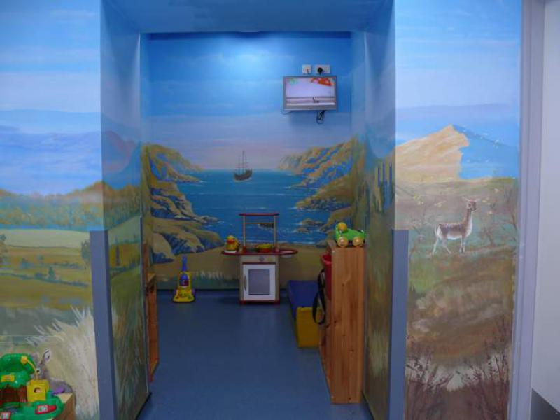Community Projects - Mural at Friarage Hospital Northallerton A & E children's waiting area