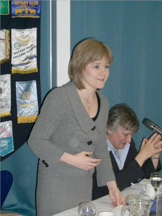 Guest Evening 14 March 2007 - Nicola Sturgeon MSP speaking at Guest Evening 14 march 2007