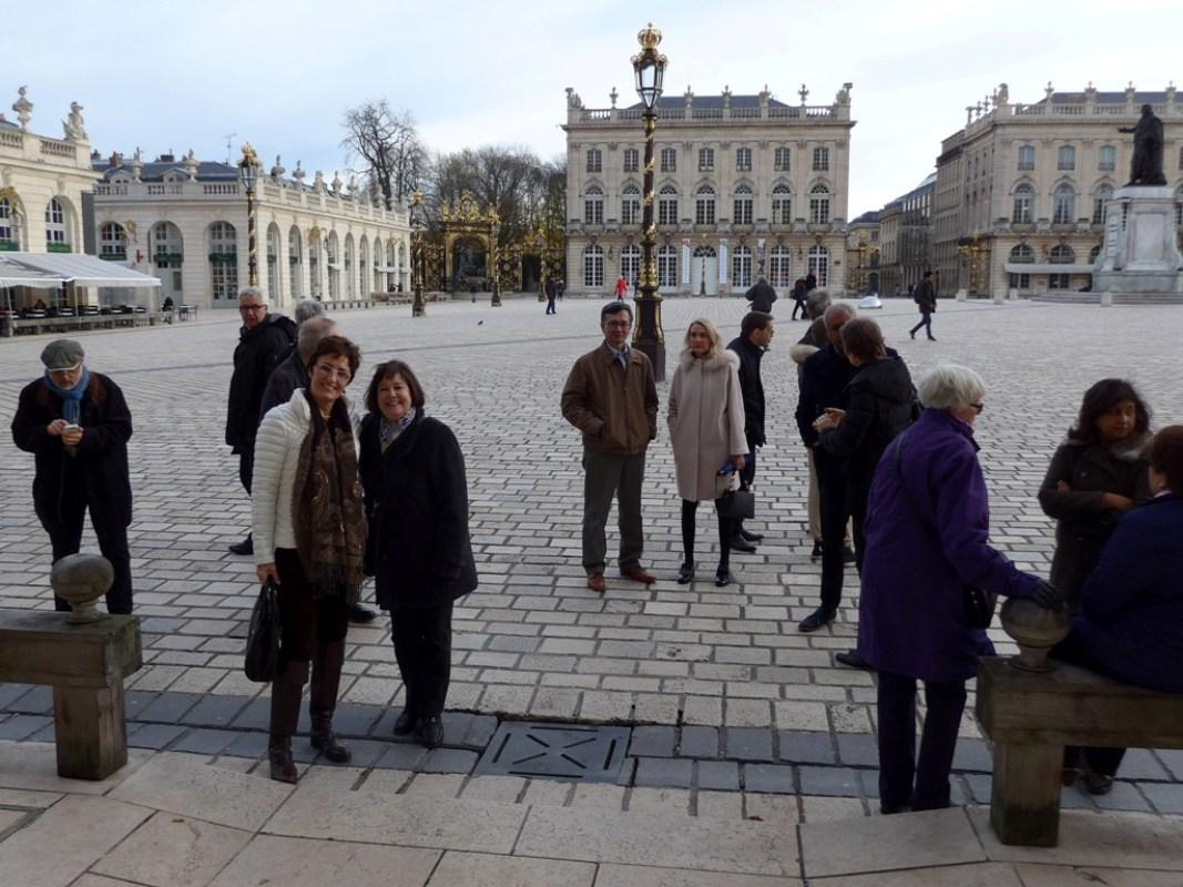 Visits to other clubs - Rotarian's in Place Stanislas in the Centre of Nancy