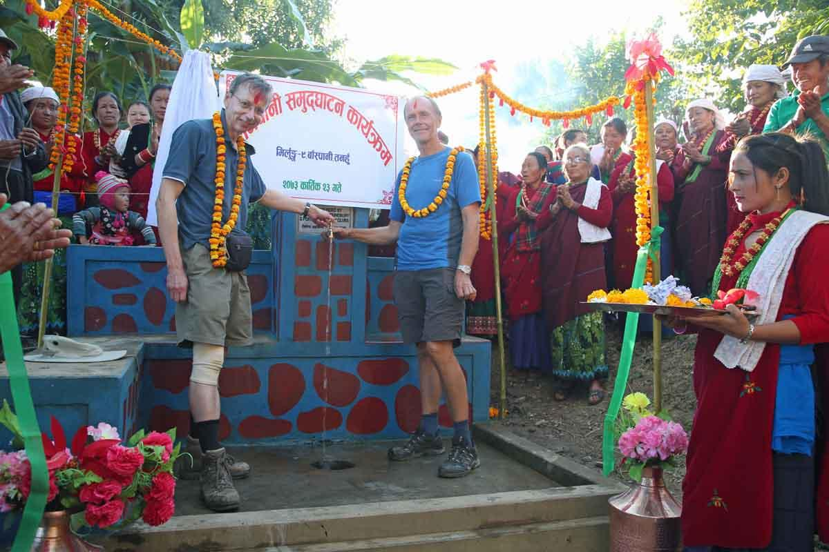 Visit to Water Projects in Nepal - Meeting the villagers