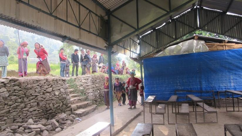 Re-building a school in Nepal -