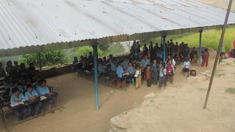 Re-building a school in Nepal - Temporary Learning Centre