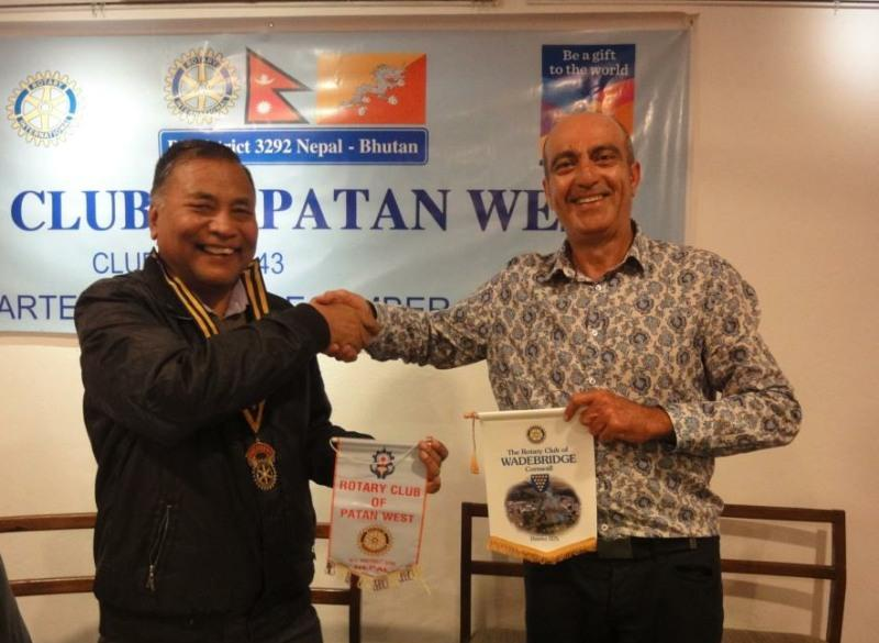 VISIT TO NEPAL - Exchange of Rotary Banners