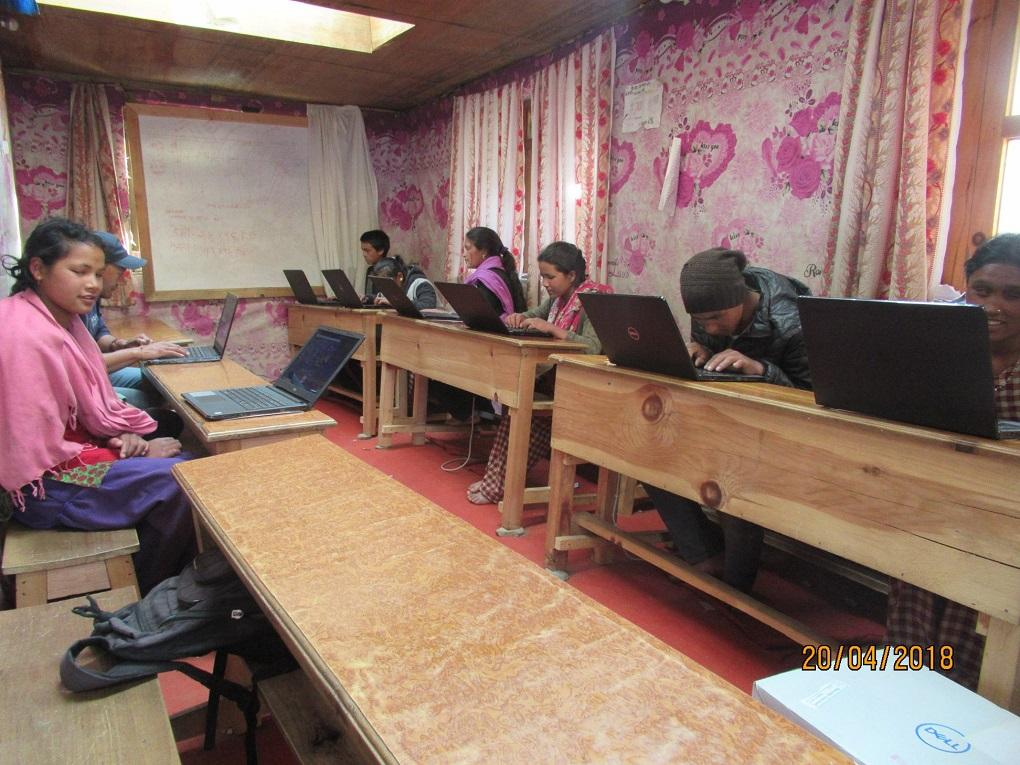 Nepal HEAD Project - The laptops provided by Aurora will assist the partially sighted pupils to gain useful skills and find employment
