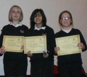 Youth Speaks - Netherhall Year 8 Girls team at Regional final 2010