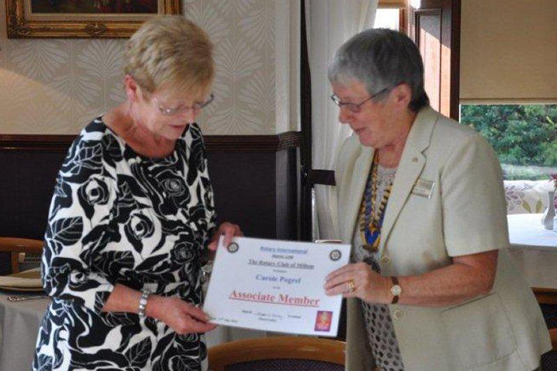 Millom's New Members - Carole becomes our second Associate Member in August 2014.