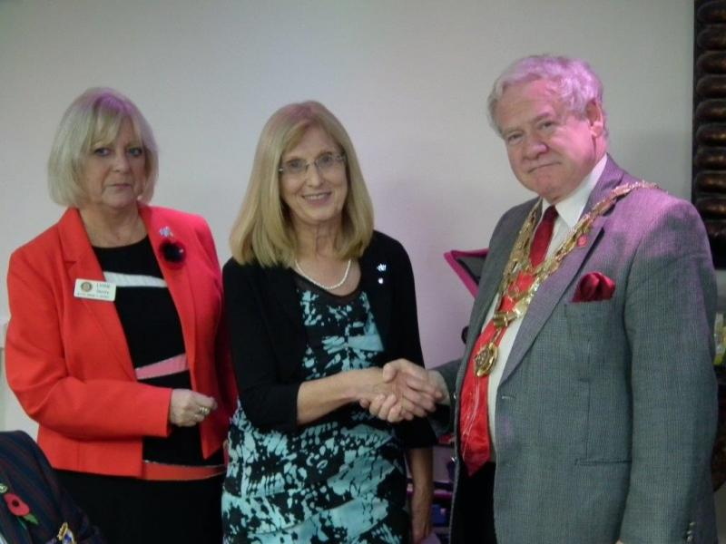 New Members - Enid being welcomed into the club by RIBI President Dave and club member Lynne