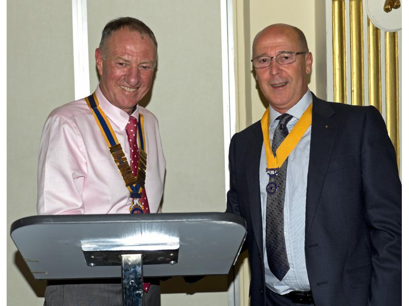 Handover Meeting - New President Geoff Bigg with Secretary Jeff MacCalman