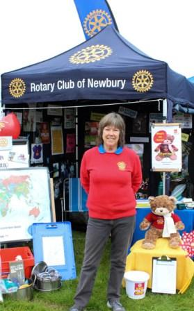 Newbury and Thatcham Rotary Clubs at the Berkshire Show - ready for another day at the show