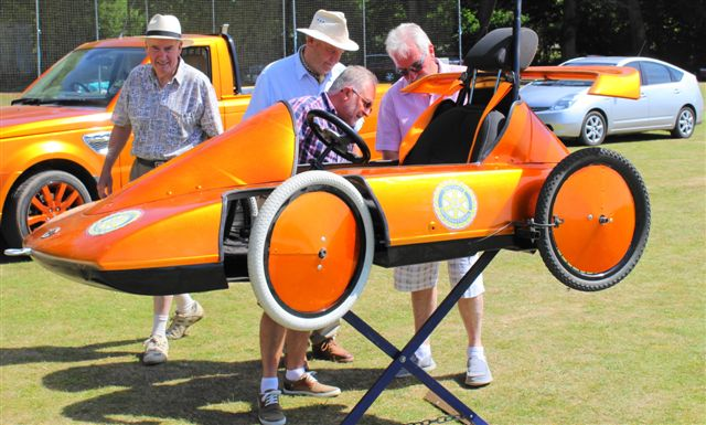 Newent Rotary Soap Box Racer - Inspection in The Pits