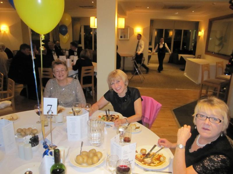 BLACKPOOL SOUTH ROTARY CLUB 2013  CHARTER DINNER.  - Nice smiles from the lady Rotarians from Blackpool Sunrise Rotary Club.