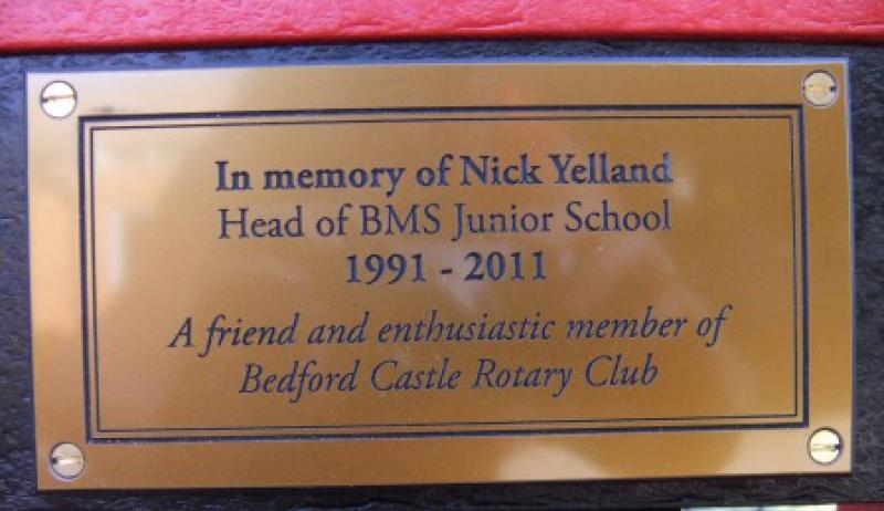 Picture Gallery - Nick's Plaque