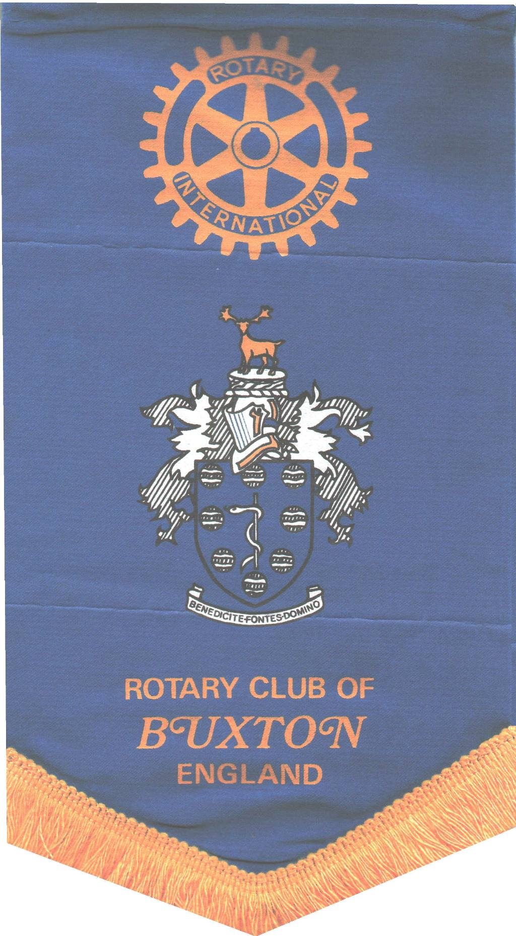 Rotary Club of Buxton Banner - Previous Banner featuring the Borough of Buxton Coat of Arms