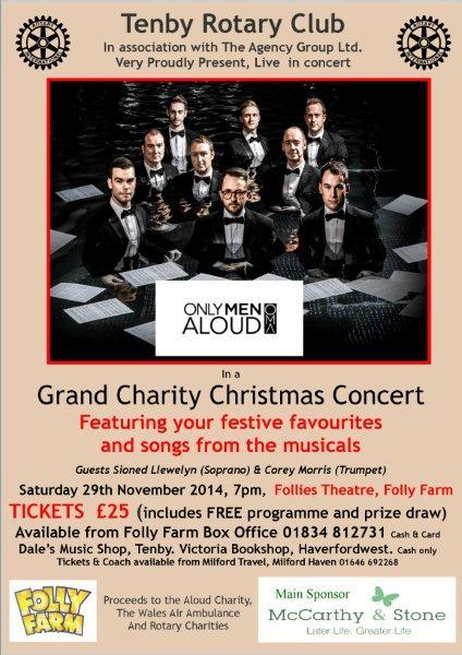 Only Men Aloud to star in Christmas Concert  -