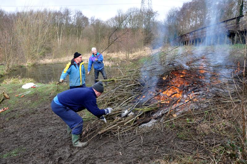 Oakwell Hall Country Park Environment tasks  - Fire starts