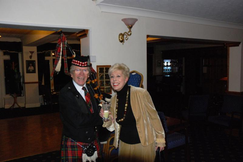BURNS NIGHT - Old friends Barry and Darling Elaine pose for a picture.