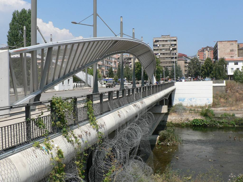 KOSOVO AMBULANCE PROJECT - The bridge over the Ebor (looking north) separating north and south Mitrovica