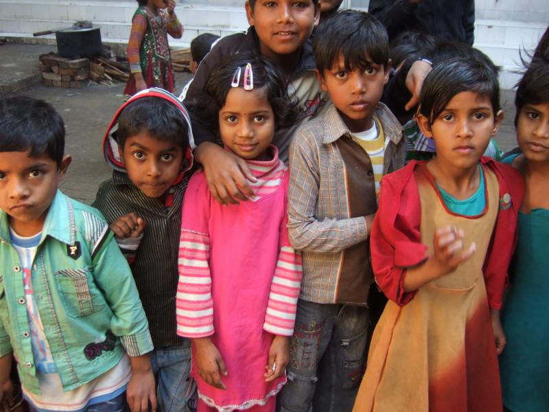 Immunisation Day in India - Onlookers
