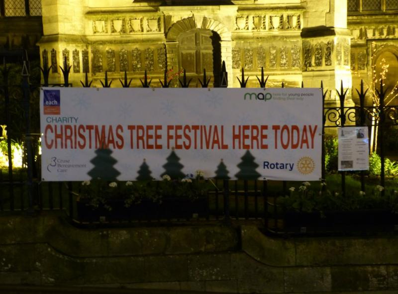 Norwich Christmas Tree Festival - Dec 2014 - Outside Church