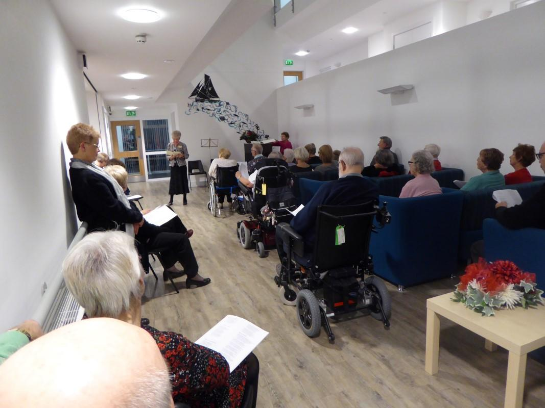 Club Activities - At Christmas we organise a Carol concert for the residents of a residential home