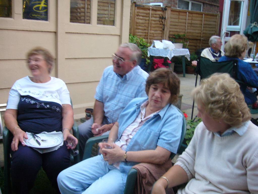 Rodney and Joan's Summer Barbecue - Kay and Bill Dimond, Mary Marriage and Jean Howden