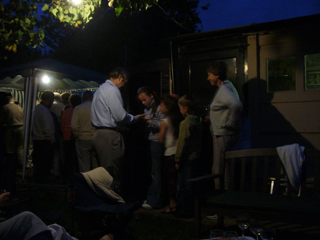 Rodney and Joan's Summer Barbecue - Night fell but the party continued....