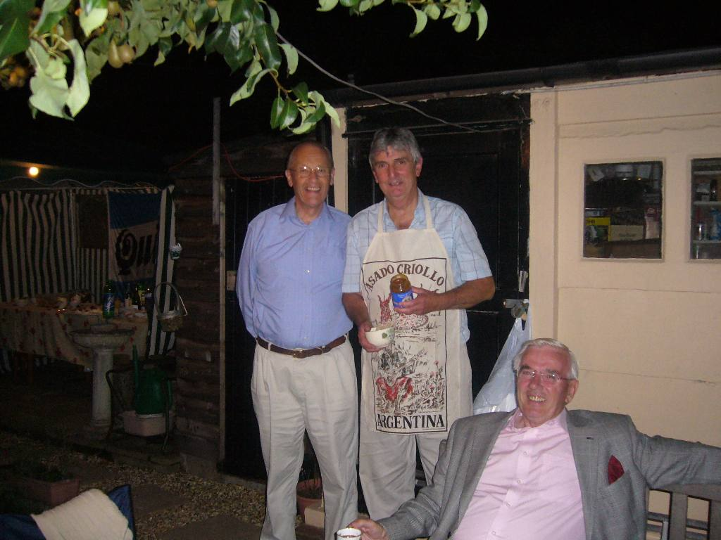 Rodney and Joan's Summer Barbecue - President David Howden, Rodney Bennett and John Nolan