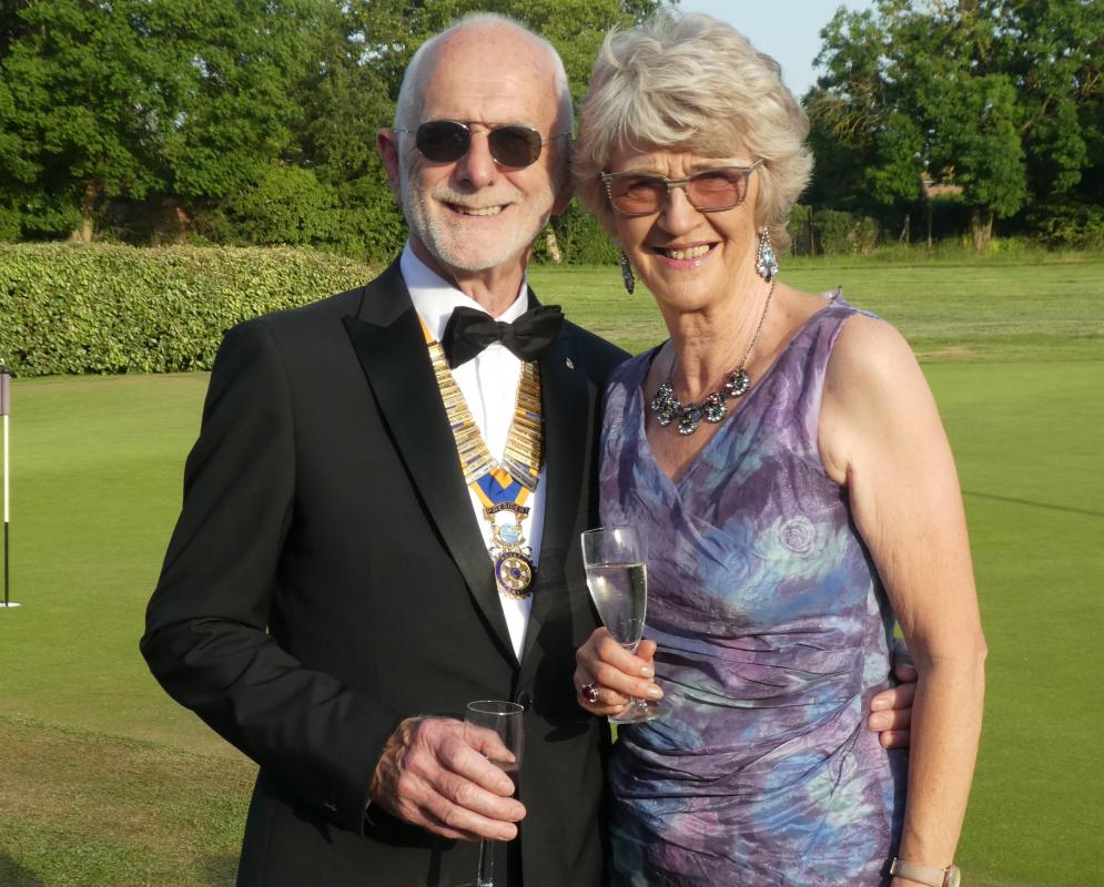 Organisation of Cookham Bridge Rotary Club - President Chris with wife Kathy at their President's Night