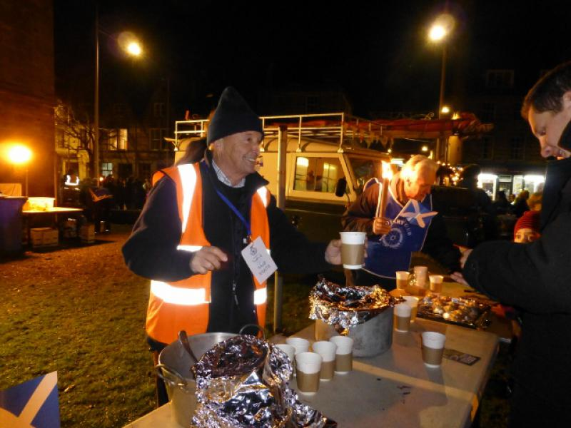 ... St Andrews Day Celebrations and Christmas Lights Switch On - Alan  Constable organised the mulled wine St Andrews Day Celebrations and Christmas  Lights ... - St Andrews Day Celebrations And Christmas Lights Switch On - Rotary
