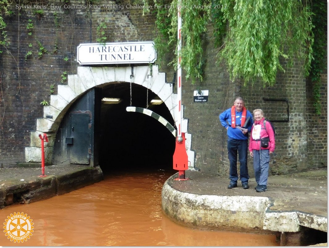 Four Counties Ring Walking Challenge For End Polio - With Hardcastle Tunnel keeper South portal